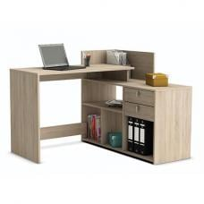 Bylan Corner Computer Desk In Brushed Oak With Storage