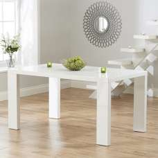 Byron Dining Table Rectangular In White High Gloss