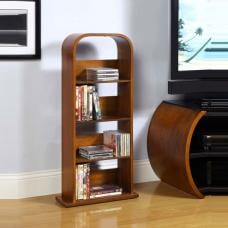 Curve Shelving Unit In Walnut Veneer