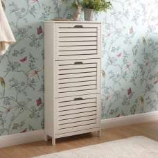 Calino Wooden 3 Tier Shoe Storage Cabinet In White