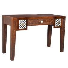 Callas Wooden Computer Desk Rectangular In Mango Wood