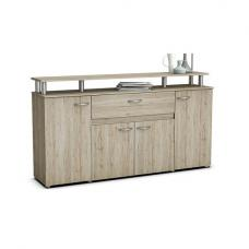 Calvi Wooden Sideboard In Sanremo Oak With 4 Doors And Drawer