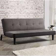 Calvin Modern Fabric Sofa Bed In Grey Velvet