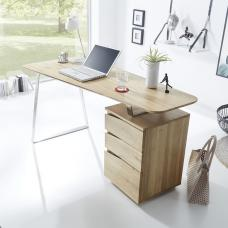 Camelia Wooden Computer Desk Rectangular In Knotty Oak