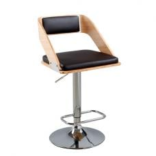 Cameo Black Faux Leather Bar Stool