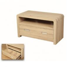 Cannock Wooden TV Stand Rectangular In Sonoma Oak With 1 Drawer
