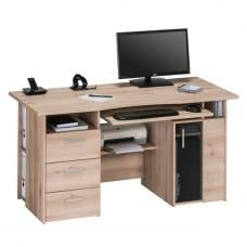 Allison Wooden Computer Work Station In Beech With Storage