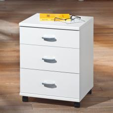 Capo 813 3 Drawer Office Container In White