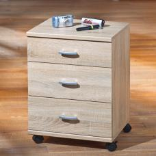 CAPO 819 3 Drawer Office Container Sanoma Oak