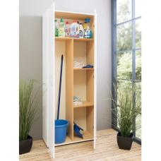 Carla Storage Cupboard In White With 2 Doors