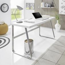 Carmine Wooden Computer Desk Rectangular In Matt White