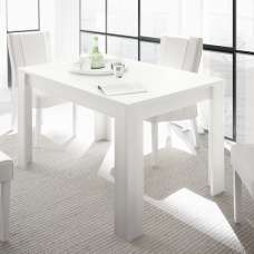 Carney Contemporary Dining Table Rectangular In Matt White