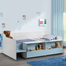 Carolyn Low Sleeper Children Bed In White And Blue