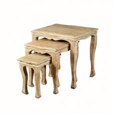 Crofton Wooden Nest of 3 Tables In Acacia Wood