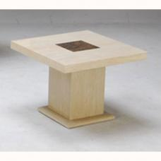 Celine Marble End Table Square In Cream