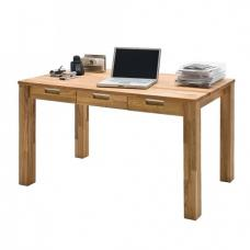 Cento 1 Computer Desk In Solid Core Beech With 3 Drawers