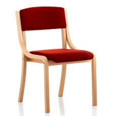 Charles Office Chair In Cherry And Wooden Frame