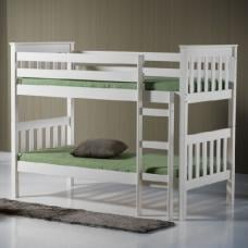 Charleston Wooden Bunk Bed In Ivory Finish