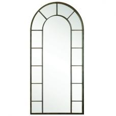 Charlotte Metal Wall Mirror In Aged Black