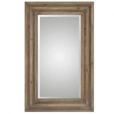 Chateau Wall Mirror Rectangular In Two Tone Finish