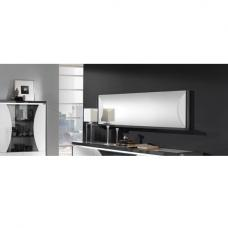 Clarus Wall Mirror Rectangular In White And Grey Gloss Lacquer