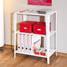 Cleo Office White Metal Shelf Unit