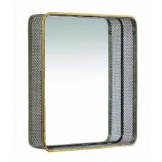 Coastal Wall Mirror Square In Antique Gold Brass