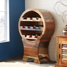 Coburg Wooden Wine Rack In Reclaimed Wood