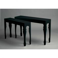 Luis Set of 2 Console And Accent Tables In Black High Gloss