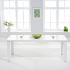 Corano Dining Table Rectangular In White High Gloss