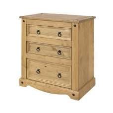 Corina Three Chest Of Drawers In Antique Wax Finish