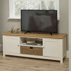 Cornet Wooden TV Stand In Cream And Oak Finish