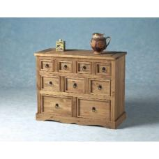 Corona Wooden Chest of Drawers With 9 Drawers