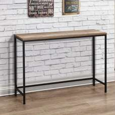 Coruna Wooden Console Table In Rustic And Metal Frame