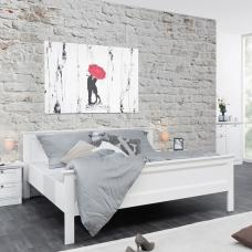 Country Wooden 180x200cm Large Bed In White