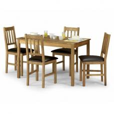 Coxmoor Solid Oak Dining Set And 4 Chairs