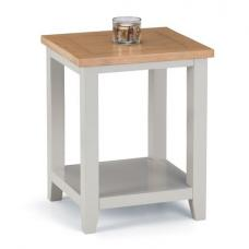 Christie Wooden Lamp Table In Oak Top And Grey