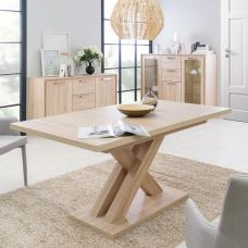 Deluca Wooden Extendable Dining Table In Sonoma Oak