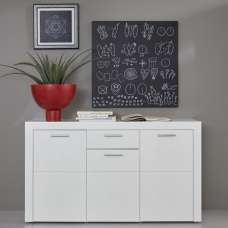 Roma Sideboard In White With High Gloss Fronts