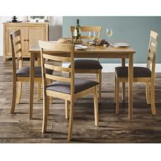 Duchess Wooden Dining Table In Light Oak With 4 Chairs