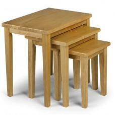 Duchess Wooden Nest Of 3 Tables Square In Light Oak