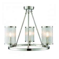 Easton Three Ceiling Light In Chrome Finish