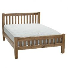Edinburgh Contemporary Wooden Bed In White Oak
