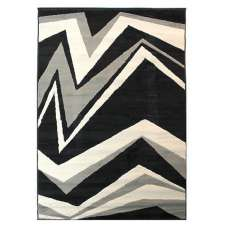 Element Shard Black And Grey Rug