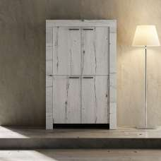 Ellie Wooden Storage Cabinet In White Oak With 4 Doors