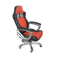 Elvina Home Office Chair In Black And Red Faux Leather