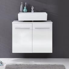 Elvis Wall Mount Vanity Cabinet In White With High Gloss Fronts