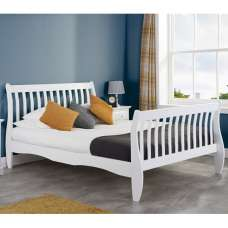 Emberly Wooden Double Bed In White