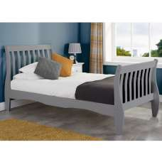 Emberly Wooden Single Bed In Grey