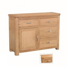 Empire Wooden Small Sideboard With 4 Drawers And 1 Door